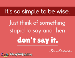 Stupid Funny Quotes Inspiration It's So Simple To Be Wise Just Think Of Something Stupid To Say And