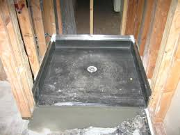 tile ready shower pan liner floor with seat amazing