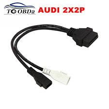 obd2 female connector reviews online shopping obd2 female vag adapter for audi 2x2 obd1 obd2 car diagnostic cable 2p 2p fits audi 2x2pin to obd2 16pin female connector vag com vw skoda