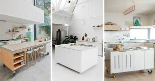modern portable kitchen island. Here Are 8 Examples Of Movable Kitchen Islands With Wheels In A Variety Materials, Modern Portable Island