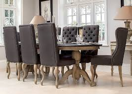 magnificent upholstered luxury grey oned back dining chair in with regard to dark chairs decorations 13