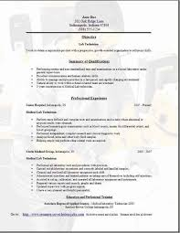 Sample Cv For Medical Lab Technician Cover Letter And