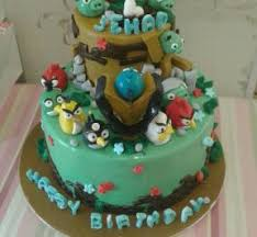 Pokemon and Angry Birds Cake