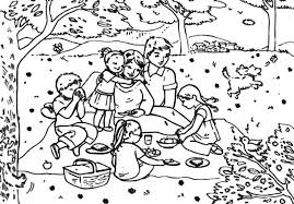 Small Picture Drawing Big Family Picnic Coloring Pages NetArt