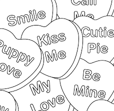 Happy valentines day hearts and roses coloring page. Valentines Day Hearts Coloring Page Coloring Page Book For Kids