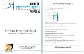 Cost Proposal Template Word Software Development Proposal Template Word