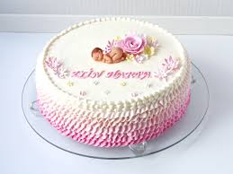 Christening Cake For A Baby Girl All Buttercream Marzipan Baby And