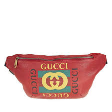 gucci print leather belt bag red 530412 0gdct 6463