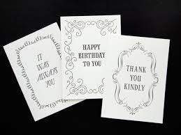 Black And White Greeting Card Black White Card Collection The Quill Letterpress Greeting