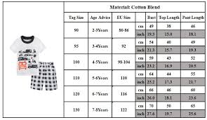 Child T Shirt Size Chart By Age Summer Baby Kids Girls Boys Short Sleeve T Shirt Shorts Pant