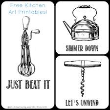 Kitchen Art Kitchen Art Free Printables Go Our Own Way