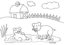 Small Picture Free Printable Farm Animal Coloring Pages RedCabWorcester