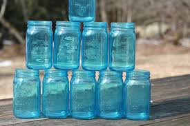 Blue Mason Jars Wedding Decor FREE SHIP 100 Blue Mason Jars Wedding Jars 100 Inch Vintage Wedding 28