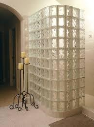 walk in door less glass block shower constructed with 8 x8