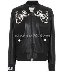 fendi important from embellished leather er jacket women s leather jackets 5ycl g50772