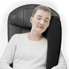 office nap pillow. Travel Pillow Head Neck Support Sitting Sleep Office Nap Gift Inflatable Black D