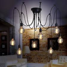 industrial home lighting. NAVIMC Black Vintage Industrial Pendant Light Fixtures Home Lighting