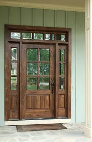 barn style front doorOconee TDL 6LT 68 Single Knotty Alder Door w Sidelights and