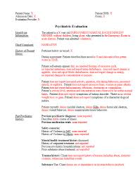Medical Chart Note Templates Custom Note Template Psychiatric Evaluation For Inpatient Or