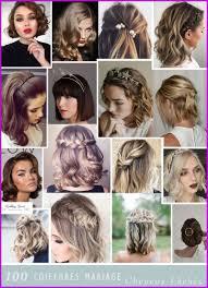 Coiffure Cheveux Carre Court Mariage à Faire Soi Meme 309926