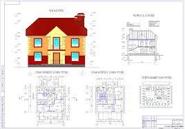 Курсовые и дипломные проекты коттеджи дачи скачать котедж в dwg  Курсовой проект Дом моей мечты 2 этажа