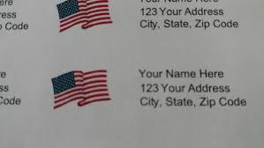 Printed Return Address Label Print 150 Return Address Labels White