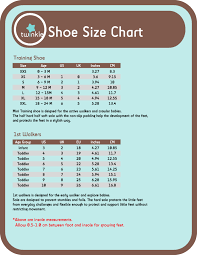 Age And Shoe Size Chart Size 1 Shoes Baby Age