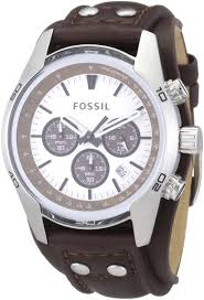 fossil men s cuff chronograph tan leather watch precious time fossil men s cuff chronograph tan leather watch