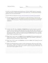 Ideal Gas Law Activity Phet