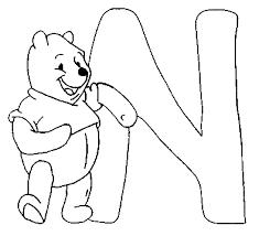 Winnie The Pooh Kleurplaten A4 Formaat Winnie Pooh Abc Coloring
