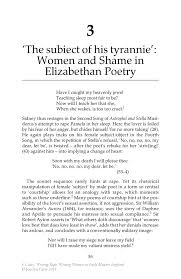 the subiect of his tyrannie women and shame in elizabethan inside