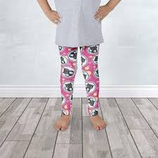 embrace your love leggings. cute cat fuchsia and yellow kid\u0027s leggings - 1 to 7 years old at speckle rock for only 35.00 embrace your love g
