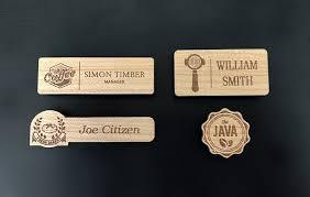 Wooden Name Badges Custom Designed Manufactured