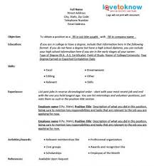 Fill In Resume Template Free Blank Resume Form Printable