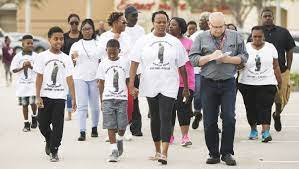 Mom walks south Lee scene of son's fatal shooting to keep case alive