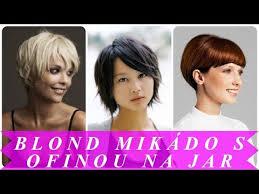Najkrajšie Blond Mikádo S Ofinou Na Jar 2018 Moderné účesy