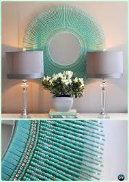 diy turquoise bead mirror diy decorative mirror frame ideas and projects