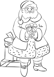 Small Picture Santa Claus with Gifts coloring page Free Printable Coloring Pages