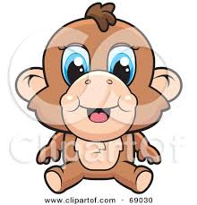 Cute Baby Monkey With Blue Eyes Posters Art Prints By