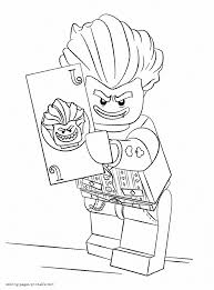 Harley quinn is a crazy comics dc girl. Lego Joker Coloring Pages Coloring Home