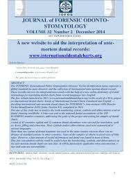Pdf A New Website To Aid The Interpretation Of Ante Mortem
