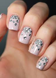 Nail Art Designs With Rhinestones Simple Acrylic Nail Designs With ...