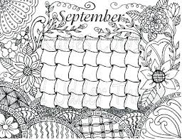 Calendar Coloring Pages 2018 Coloring Calendar Monthly Pages 2018