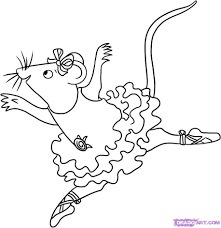 Small Picture Angelina Ballerina Colouring Pages Kids Coloring For glumme