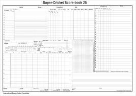 Cricket Score Sheet 20 Overs Excel Cricket Score Sheet Cricket Score Cricket Scores