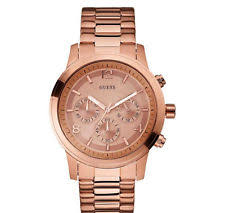 guess rose gold watch new guess watch for men chronograph rose gold tone stainless steel u16003g1