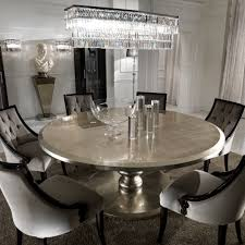 round dining room table with leaf. Large Round Italian Champagne Leaf Dining Table And Chairs Set Room With D