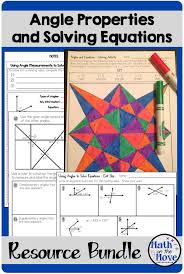 angle properties and solving equations bundle 7 g 5