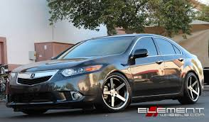 Stance SC5 Black/Machined Wheels on 2013 Acura TSX w/ Specs Wheels