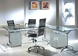 Desk Glass Desks For Home Office Contemporary Black Glass Office